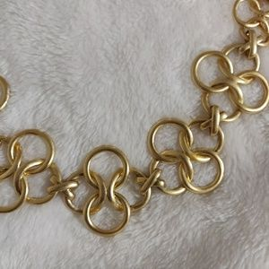 Stella & Dot Jewelry - Golden Circular Long Chain Necklace